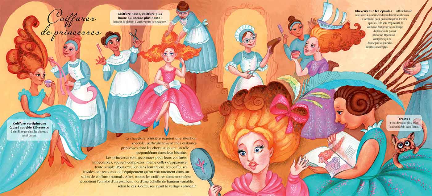 Princesses headdresses - Coiffures de princesses